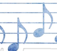 DRUMS - Words in Music - Blue -  V-Note Creations Sticker