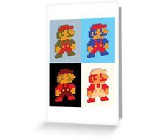 3D 8-bit Mario Colors Greeting Card