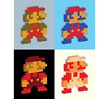 3D 8-bit Mario Colors Photographic Print