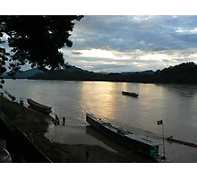 The Mekong at dusk Photographic Print