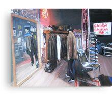 Shopping on Orchard Street, NY,NY Canvas Print