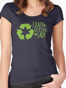 Crazy Recycling Lady Women's Fitted Scoop T-Shirt