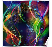 Colorful Abstract Fractal Poster