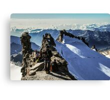 On the summit Canvas Print