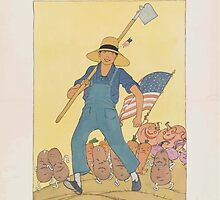 United States Department of Agriculture Poster 0117 Seeds of Victory Ensure Fruits of Peace National War Garden Commission by wetdryvac