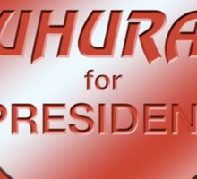 Uhura for President Sticker