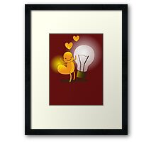 A cute little idea! Glow worm with light bulb Framed Print