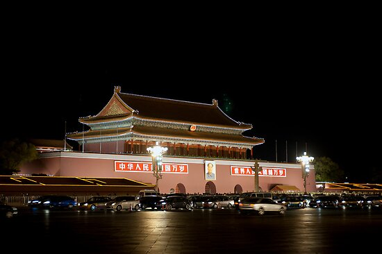 The Tian'anmen at night by Mark Prior