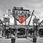 Comerica Park baseball stadium Detroit by Chris L Smith