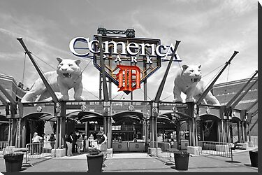 Comerica Park baseball stadium Detroit by chris-csfotobiz