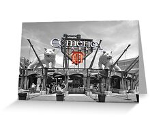 Comerica Park baseball stadium Detroit Greeting Card