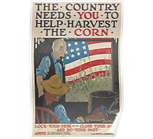 United States Department of Agriculture Poster 0130 The Country Needs You to Help Harvest Corn Poster