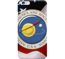 NASA Emblem over American Flag iPhone Case/Skin