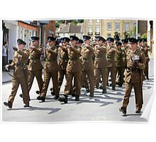 British Soldiers on Parade Poster
