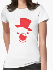 Red simple circus clown cute! Womens Fitted T-Shirt