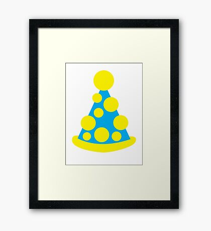 Silly funny Clown hat  Framed Print