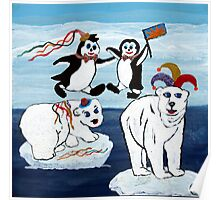 Carneval i South Pole Poster