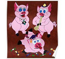 Carneval Pigs Poster