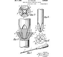 Phillips Screwdriver Patent 1934 Photographic Print