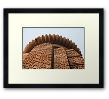 Sandstone Shapes Framed Print