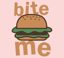 Bite me with cute hamburger Kids Clothes