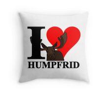 I love Humpfrid Throw Pillow
