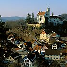 Gossweinstein castle & town, Franconia, Germany.  by David A. L. Davies