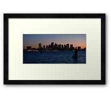 Boston By Night Framed Print