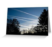 Vapor Trails Greeting Card