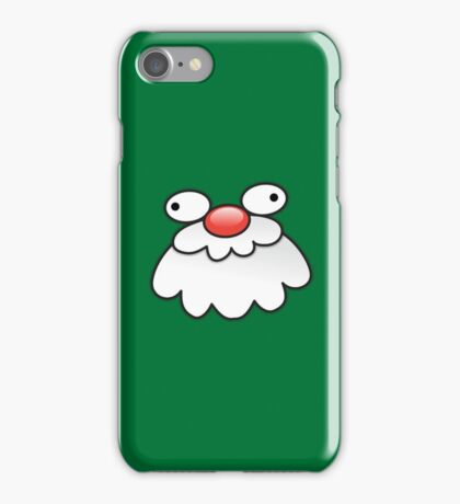 Christmas: Silly looking Santa Face cutie! iPhone Case/Skin