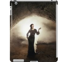 fantasy fairytale girl in cave earth iPad Case/Skin