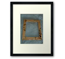 clover woodburned and seashell frame Framed Print
