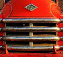 1955 Diamond T Grille - The Cadillac Of Trucks Sticker