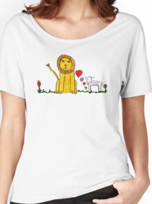 Tane's Lion and Lamb Women's Relaxed Fit T-Shirt