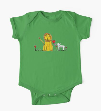 Tane's Lion and Lamb One Piece - Short Sleeve