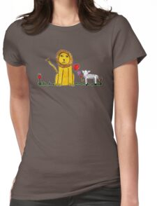 Tane's Lion and Lamb Womens Fitted T-Shirt