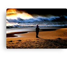 BEACH COMBING... Canvas Print