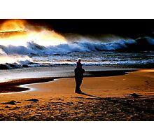 BEACH COMBING... Photographic Print
