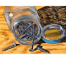 small jar of Phillips screws  Photographic Print
