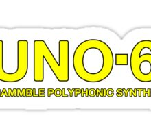 Vintage Juno 60 Synth Yellow Sticker
