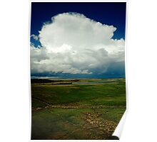 Thunder cloud over moorland, Northumberland, UK Poster