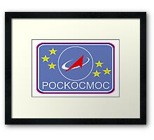 Roscosmos - Flight Suit Patch Framed Print