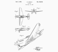 Airplane Patent 1942 One Piece - Short Sleeve