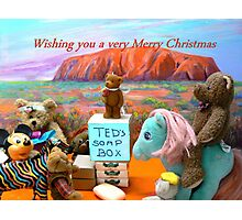Merry Christmas From Teds Soapbox Photographic Print