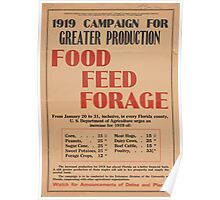 United States Department of Agriculture Poster 0064 Greater Production Food Feed Forage Poster