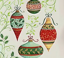 Decorated ornaments by lizblackdowding