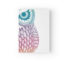 Long Eared Owl - Rainbow Hardcover Journal