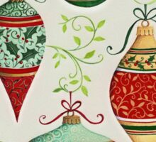 Decorated ornaments Sticker