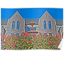 HDR - SSLC - Fountain Flowers and Stone Facades Poster