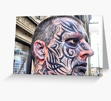 The Man With A Thousand Tattoos Greeting Card